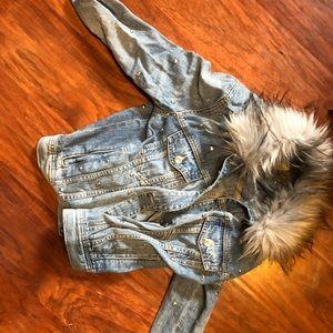 American Eagle Studded Jean Jacket